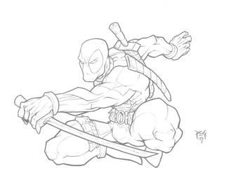 Deadpool pencils n color link by madmagnus