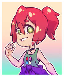 Echo, but she's a Hipster now by MistletoesArt