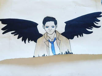 cas from supernatural  by nighgirl268