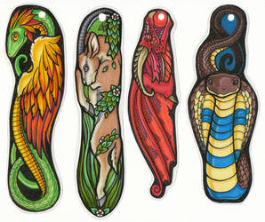 'Shapies' bookmarks by xenotropos
