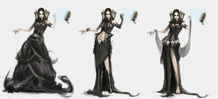 Necromancer Outfits by Erebus88