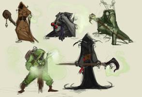 Plague Priest Thumbnails by Erebus88