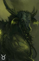 Demon Zodiac - Taurus by Erebus88