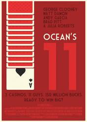 Ocean's Eleven Poster by W0op-W0op