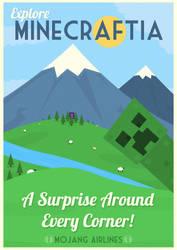 Minecraftia Travel Poster by W0op-W0op