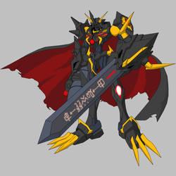 Black Omegamon X by Garm-r