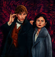 Newt and Tina (from Fantastic Beasts) by zinst