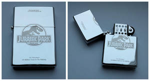 JURASSIC PARK - engraved lighter by Piciuu