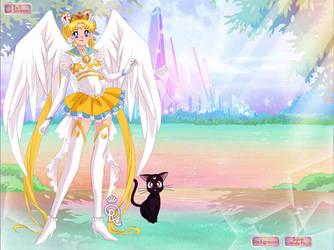 Infinite Sailor Moon and Luna by MariaTenebre