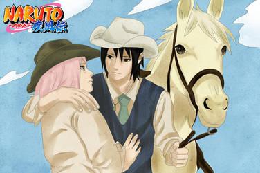 SasuSaku: Cowboys by Lesya7