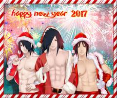 HAPPY NEW YEAR 2017 Uchihas - Sasuke Madara Izuna by Lesya7