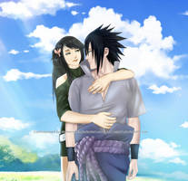 Commission: Sasuke x Hotaru Lee (OC) - Hug by Lesya7