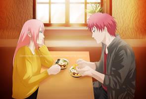 Commission: Sasori x Sakura by Lesya7