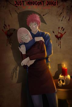 JIJ! art Sasori Sakura - Shadow of death by Lesya7
