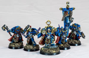 [Wh40k] Calgar with Honorguard by Mineraleater