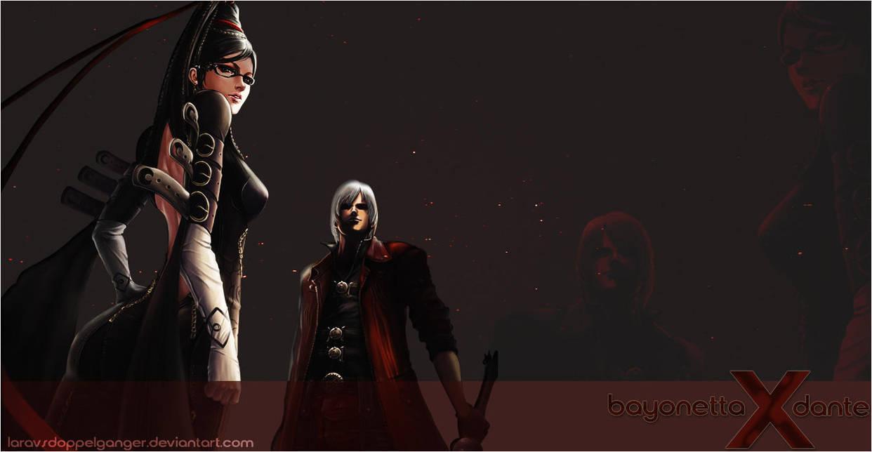 Bayonetta X Dante Wallpaper by LaravsDoppelganger