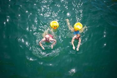 swimming through zurich by kinderschokolade