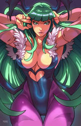 Morrigan Pinup by edwinhuang