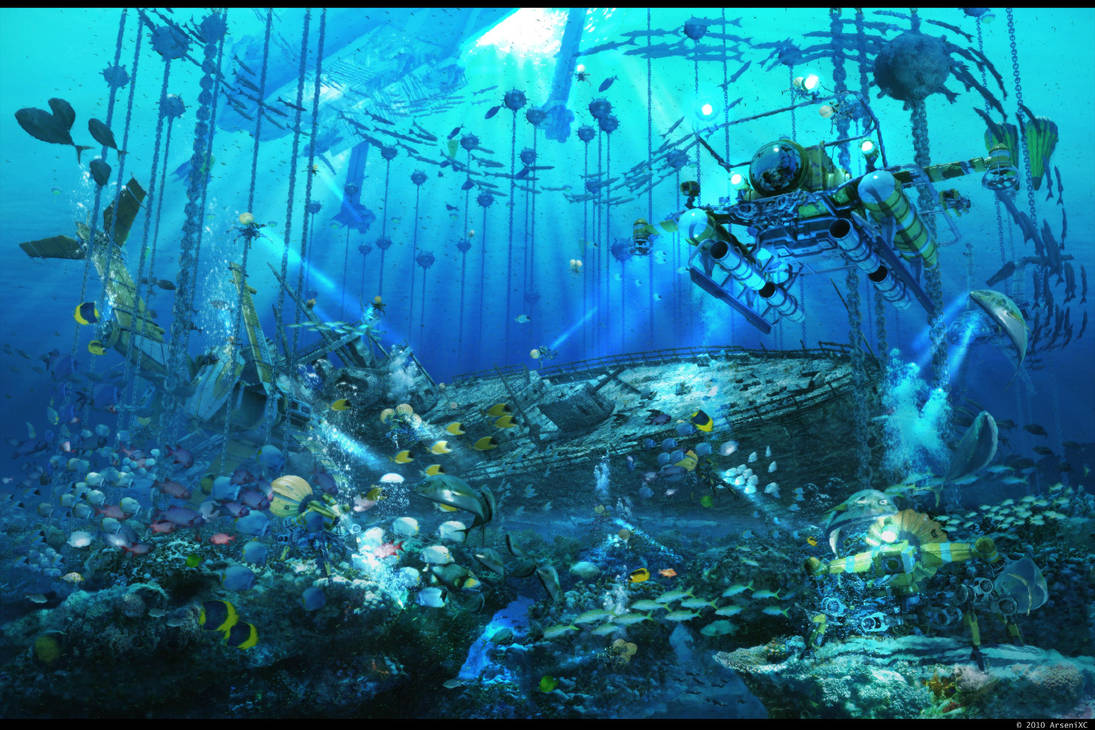 Mystery of underwater treasure by arsenixc