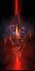 Soaring hellish citadel by arsenixc