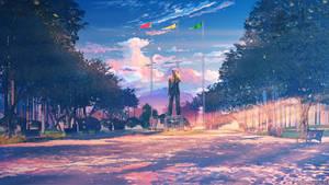 Square sunset by arsenixc