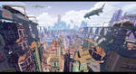 Evening city by arsenixc