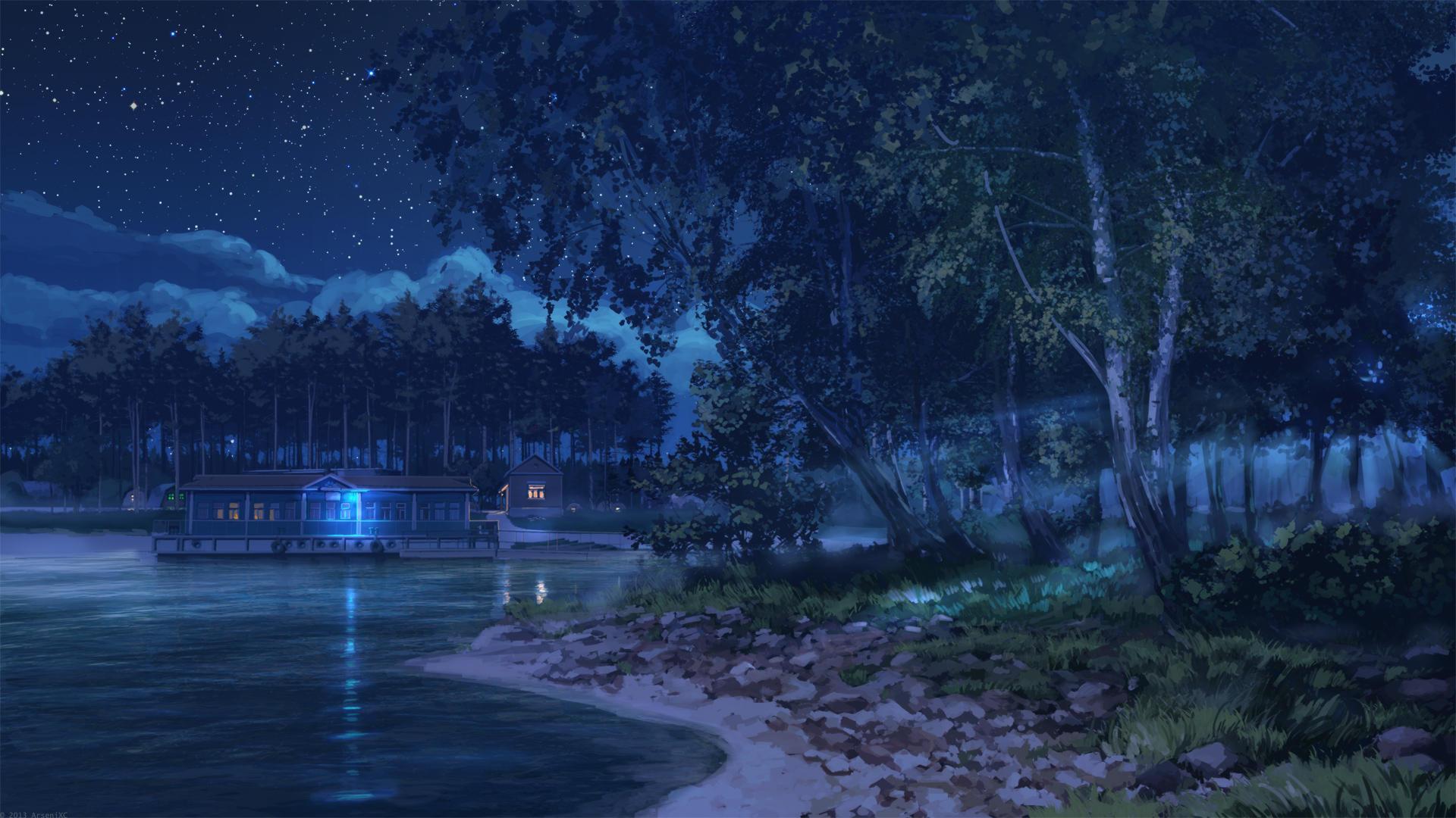 Island Night by arsenixc