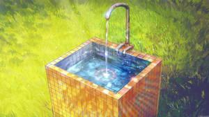 Washstand in summer camp by arsenixc