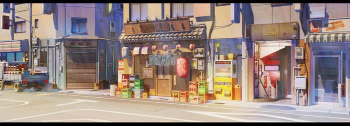 Street and old bar LmRnR by arsenixc