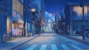 Tokyo Street Night by arsenixc