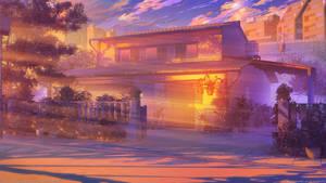 Himitsu House sunset by arsenixc