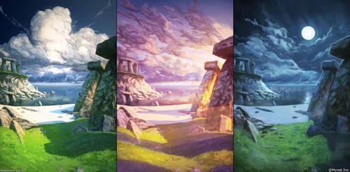Angel Master backgrounds (Mynet Inc) by arsenixc