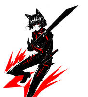 Cat warrior by arsenixc