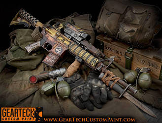 Custom Painted Airsoft Gun  by dog-green-1