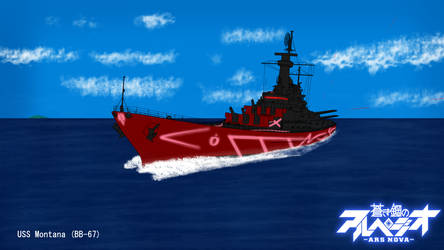 Fleet of Fog's Montana (BB-67) by BosquianDeathAce