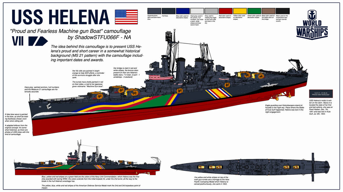 USS Helena - World of Warships Camouflage Contest by BosquianDeathAce