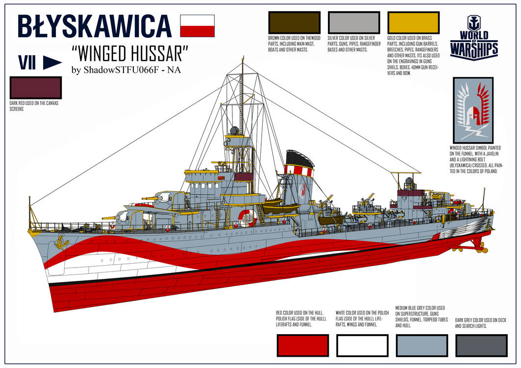 ORP Blyskawica - World of Warships Camo Contest by BosquianDeathAce