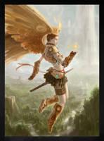 golden wings by GreenViggen