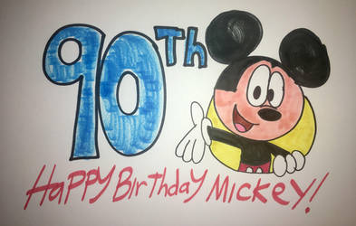 Happy 90th Birthday Mickey Mouse by Ducklover4072
