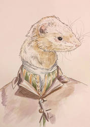 Bacchus the ferret by SeaAngel2133