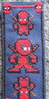 Cross Stitch Deadpool Bookmark by Quina-chan