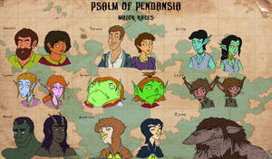 Psalm of Pendansia: Major Races by magusVroth