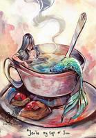 A cup of sea by Gretlusky