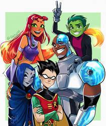 Teen Titans by Gretlusky