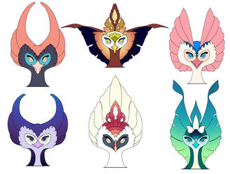 Phoenix heads by Charanty
