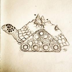 Tank Tread Turtle by Caskatified