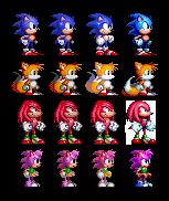 Sonic Sprite Evolution by Alex13Art