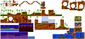 Green Hill Zone Sprites Mania by Alex13Art