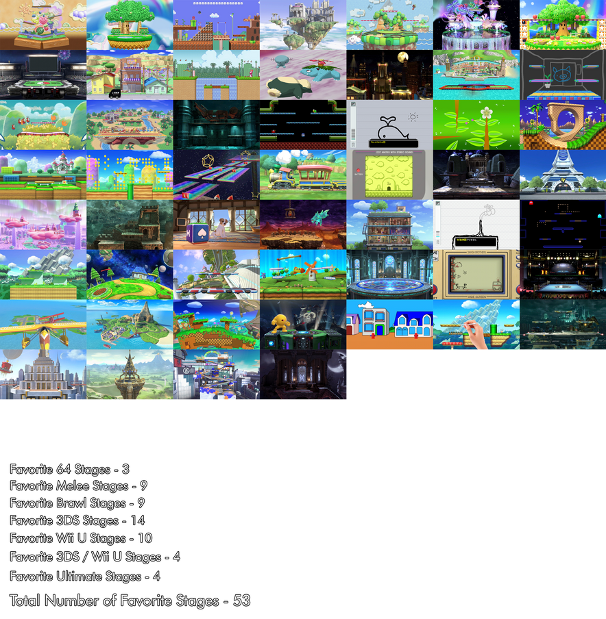 My Favorite Smash Stages by Alex13Art