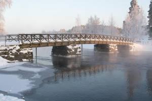 Olavinlinna castle bridge 1, unrestricted stock by MariaLoikkii